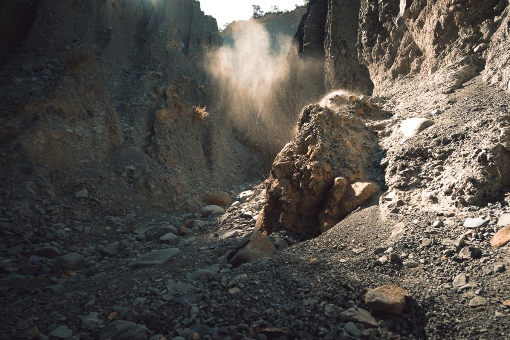 Brume dans Putangirua Pinnacles