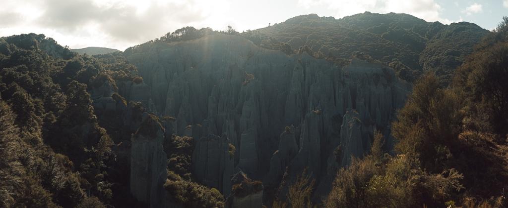 Putangirua Pinnacles vu d'au dessus