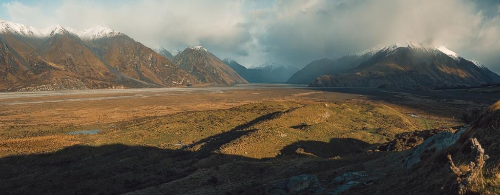 La vue depuis Edoras nouvelle zélande