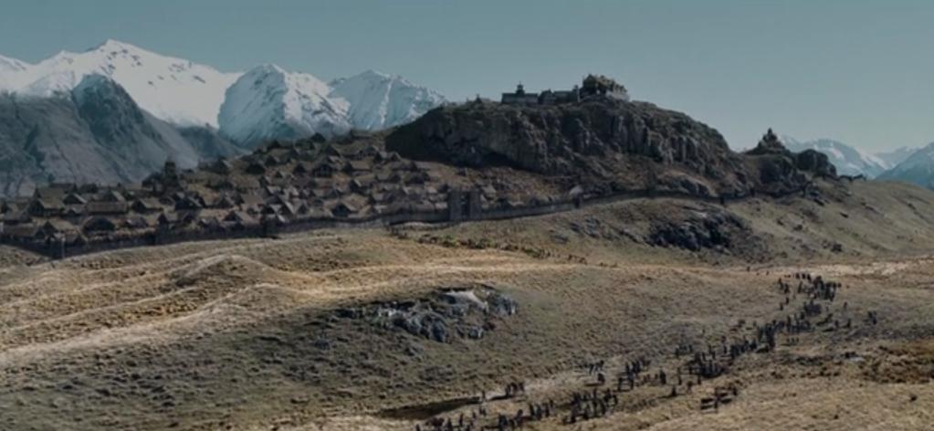 Scène issue des deux tours -Seigneurs des Anneaux - Edoras