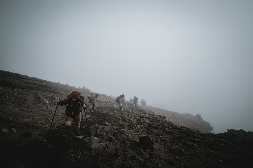 Montée du Tongariro Crossing